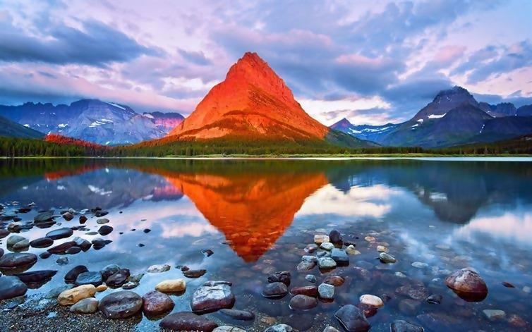 A mountain that looks like a giant Dorito.
