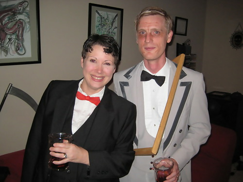 Heather and David as Dorian Gray and his Picture