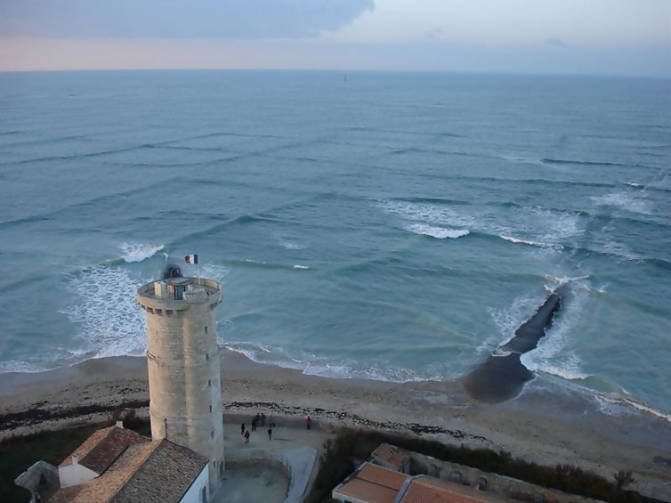 Waves that have formed on a grid.